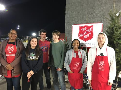 CCHS DECA Volunteering for the Salvation Army Bell Ringing