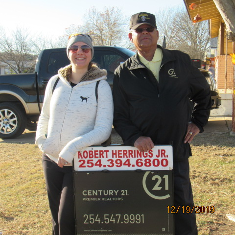 Kathryn and Robert at Ground Breaking Ceremony December 19, 2019.