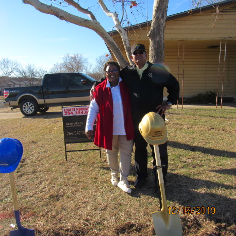 Bonnie & Robert at Ground Breaking Ceremony December 19, 2019.