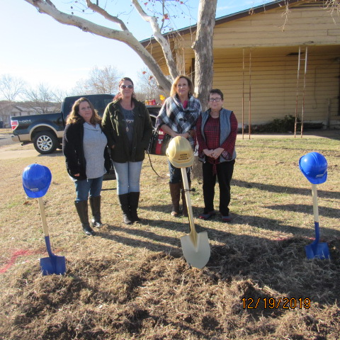 Century 21 Premier Realtors Agents; Shawlynn, Brandy, Teresa and Geoanna at Ground Breaking Ceremony December 19, 2019