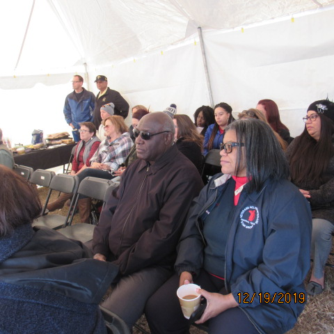 Veteran helping Veteran at Ground Breaking Ceremony December 19, 2019.