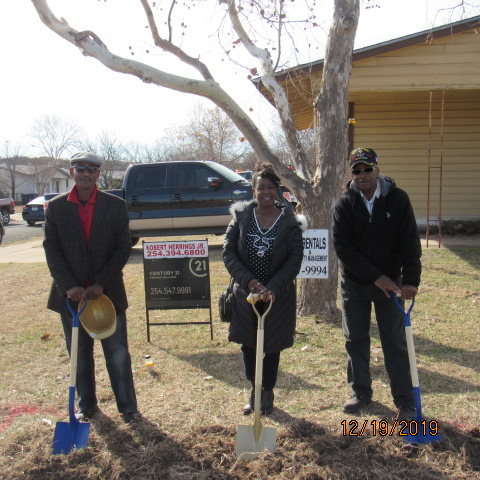 Ken Farmer, Lynn Garland and Jimmy Wilson at Ground Breaking Ceremony December 19, 2019.