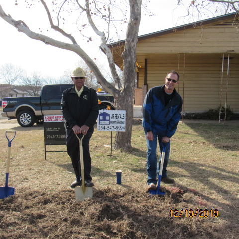 Robert & Phillip Crawford at Ground Breaking Ceremony December 19, 2019