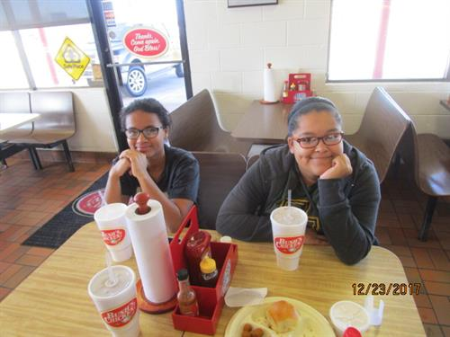 Lunch With My Grand Daughters