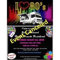 News Release: Annual Food Truck Festival CANCELED
