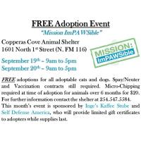 Pet Adoption Event: 9/16/2019