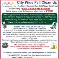 City Wide Fall Clean-Up 10/21/2019