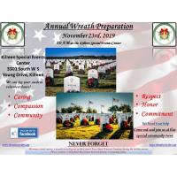 Annual Wreath Preparation Press Release: 10/30/2019