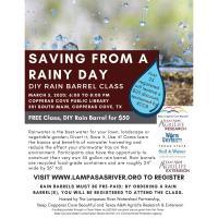 News Release: Saving From a Rainy Day – DIY Rain Barrel Class 2/12/2020