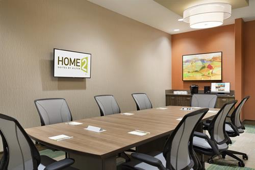 The Azalea Boardroom is the perfect place for a small conference.