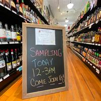 Complimentary Sampling Every Saturday 12:00 noon to 3:00pm!