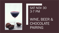 Wines, Beer, & Chocolate Pairing