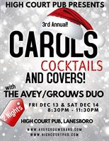 3rd Annual - Carols, Cocktails, & Covers with the Avey Grouws Duo (Night 2)