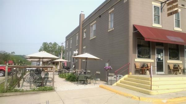 Our restaurant and outdoor seating