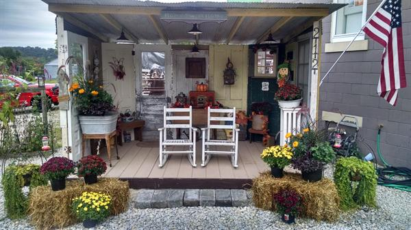 porch in the Fall