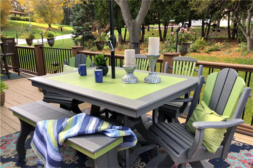 Customize your outdoor furniture with optional color placement!
