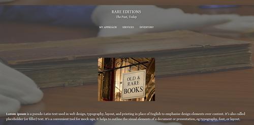 Portfolio - Rare Editions The Past, Today
