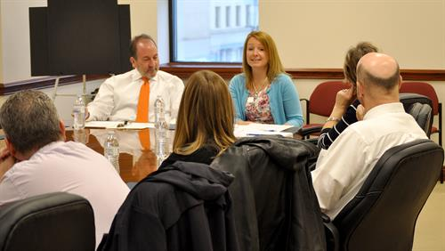 """Annually McKinley Carter advisors contribute to the """"Financial Planning"""" presentation for the Chamber's Leadership Wheeling program."""