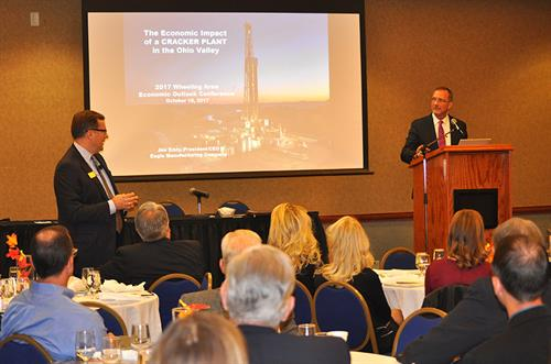 McKinley Carter annually co-sponsors the Wheeling Area Economic Outlook Conference with WVU's Bureau of Business and Economic Research and the Wheeling Chamber.