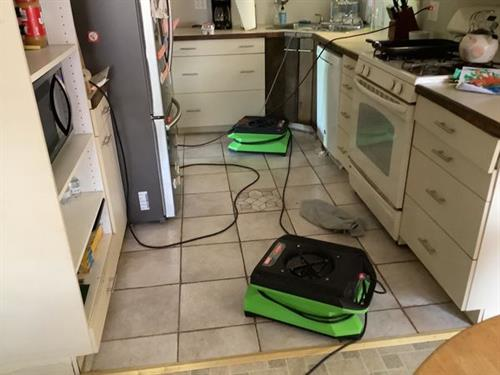 When water damage strikes your property from things like a dishwasher leak or appliance failure you may have several rooms and various materials that have been affected.