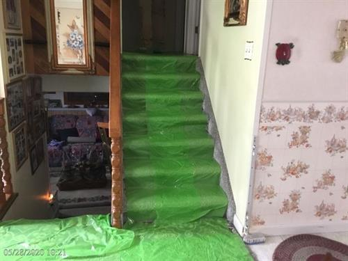 . When SERVPRO of Commerce City trained technicians begin work and assess damages areas, they put materials in place to protect high traffic areas and eliminate slip and fall risks for ourselves and our customers.