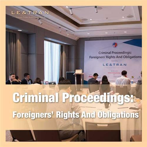 Criminal proceeding - Foreigners' rights and obligations