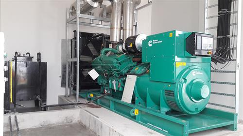 Two-stage ammonia refrigeration system with Sabroe (Denmark) screw compressor
