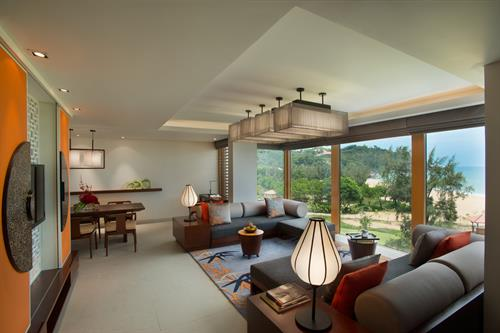 Angsana Lang Cô_Skypool Seaview Two Bedroom Loft_Living room