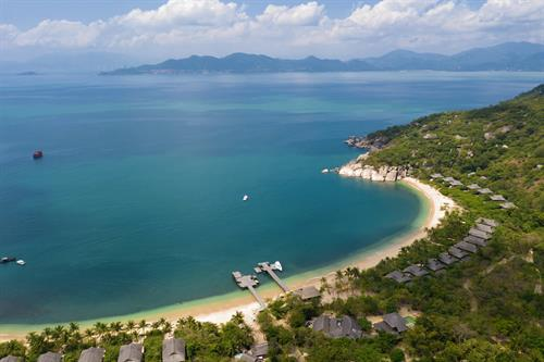 Aerial View Six Senses Ninh Van Bay