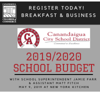 Breakfast & Business with School Superintendent Jamie Farr & Assistant Matt Fitch, May 9, 2019