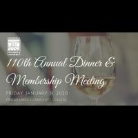 110th Annual Dinner & Membership Meeting 1/31/2020