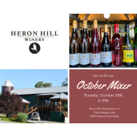 October Mixer hosted by Heron Hill Tasting Room on Canandaigua Lake