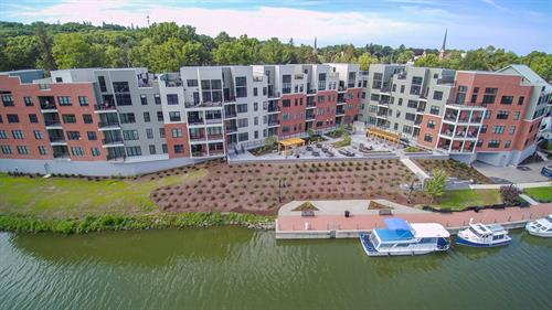 The Residences at Canalside Aerial