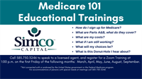 Medicare 101 Educational Trainings on Zoom
