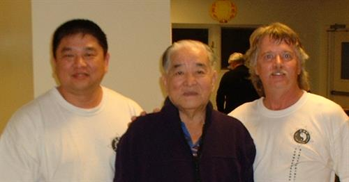 Mr. Nanos with Master Chin and the late Grand Master Chin