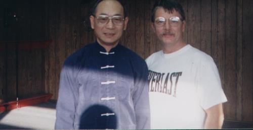 Mr. Nanos with his  late Tai Qi Chuan Master YU