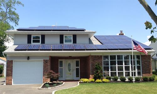 One of Built Well Solar's many solar panel installations.