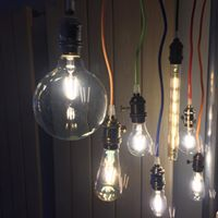 Vintage filament lamps are all the rage right now. Thankfully, we've got LED filament lamps, so you can get the vintage style with a modern energy efficient technology. The possibilities are endless when you pair them with any of the colorful cord and socket sets.