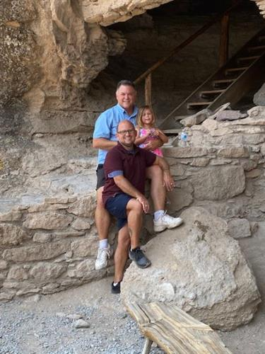 Our family visiting my home state of New Mexico and the Gila Cliff Dwellings!