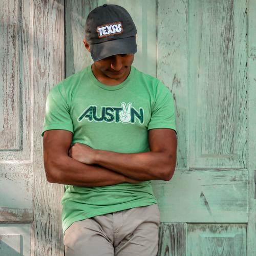 Peace Austin Unisex T-shirt - Retro Texas Dad Cap