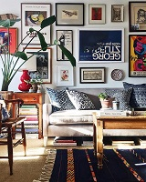 Love seeing our new Sloane sofa with chic white legs in @aspoonfulofbenjamin's living room.