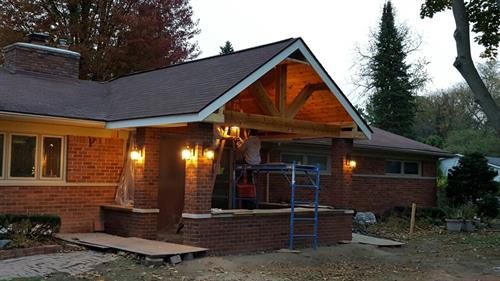 Front Porch Addition in Bloomfield
