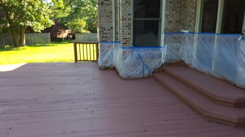 Deck Stained in Troy