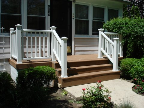 New Front Porch & Staircase in Grosse Pointe