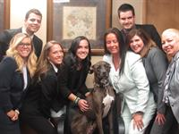"""The gang with our firm mascot """"MOOSE"""""""