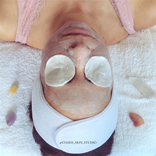Yang Facial - Customized crystal grid with clarifying mask