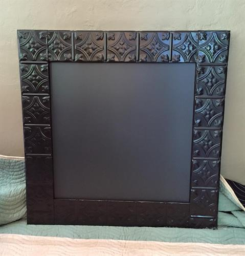 Tin Ceiling Tile Magnetic Chalkboard
