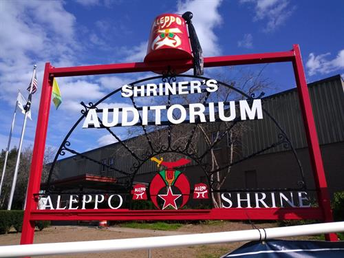 Shriners Auditorium - Sign After Picture