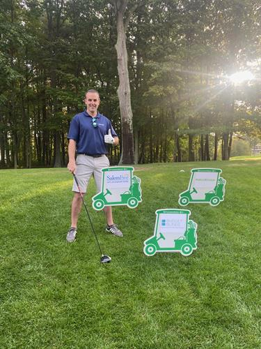 Branch Manager Mark Iannuccillo at the 2020 Golf Classic