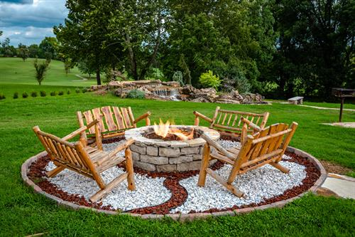 Guests are welcome to use the fire pit